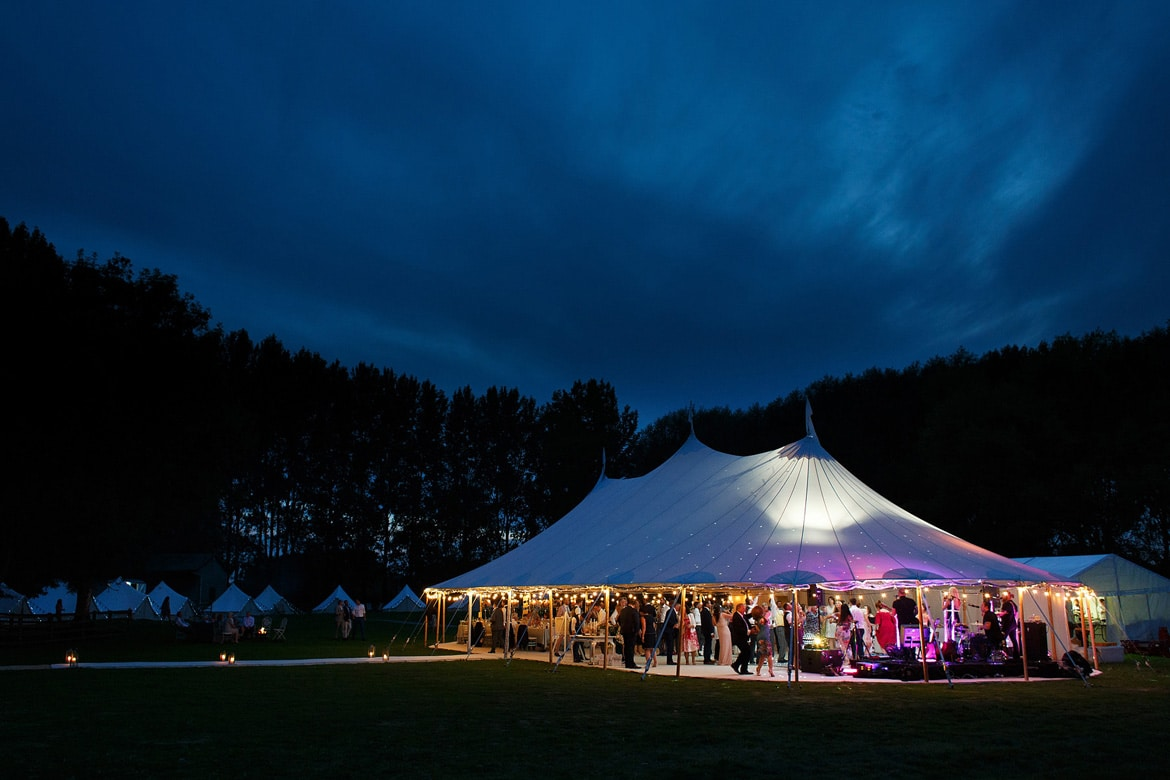 a sperry tent at a wedding