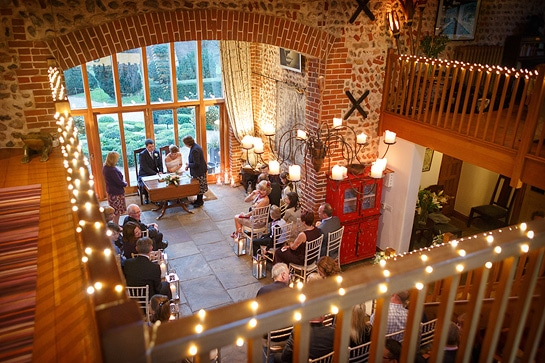 chaucer barn winter wedding