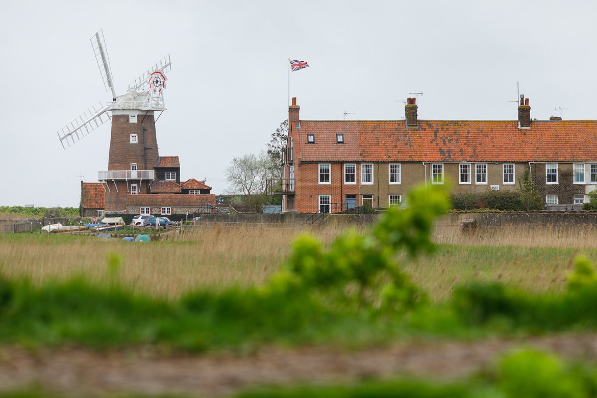 a grey day in April at cley next the sea
