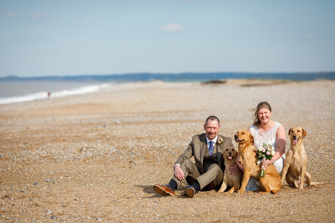 a family portrait on a north norfolk beach