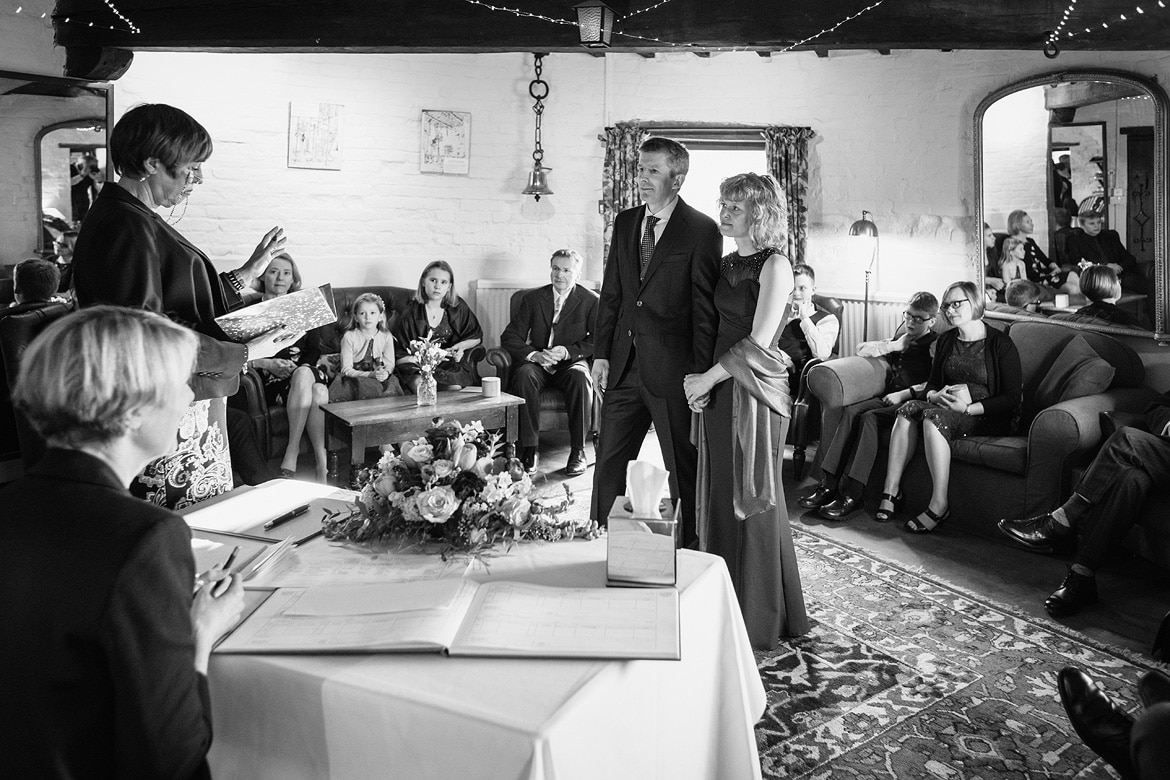 a wedding ceremony at cley windmill