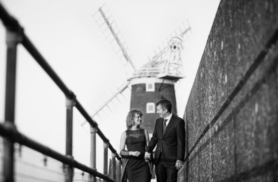 winter wedding at cley windmill