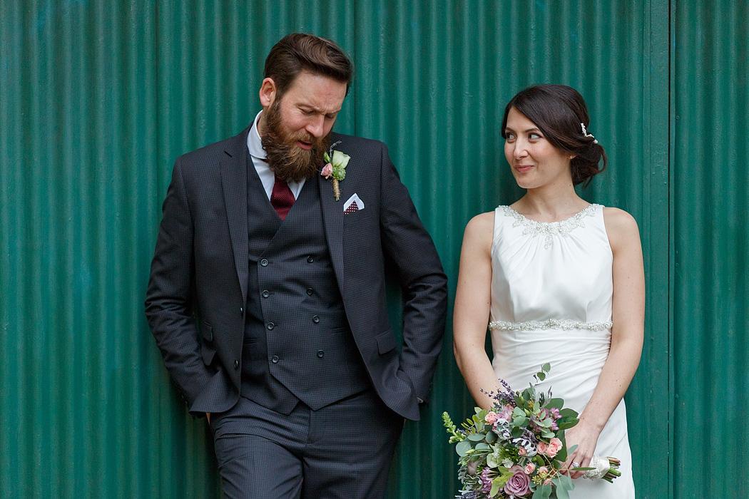 couple portrait at a norwich wedding