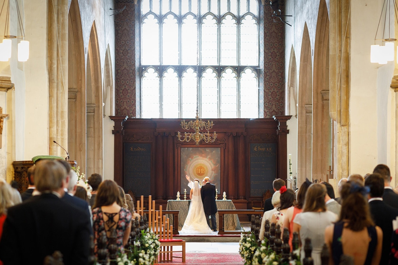 the blessing during a framlingham wedding