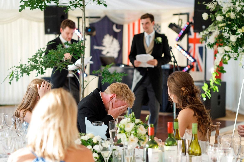 the best men speak at a suffolk marquee wedding