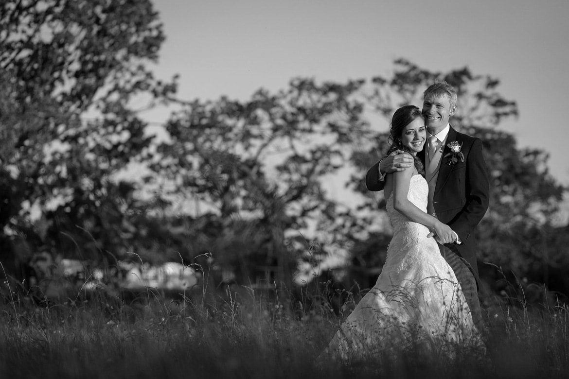 lovely evening light for a bride and groom portrait