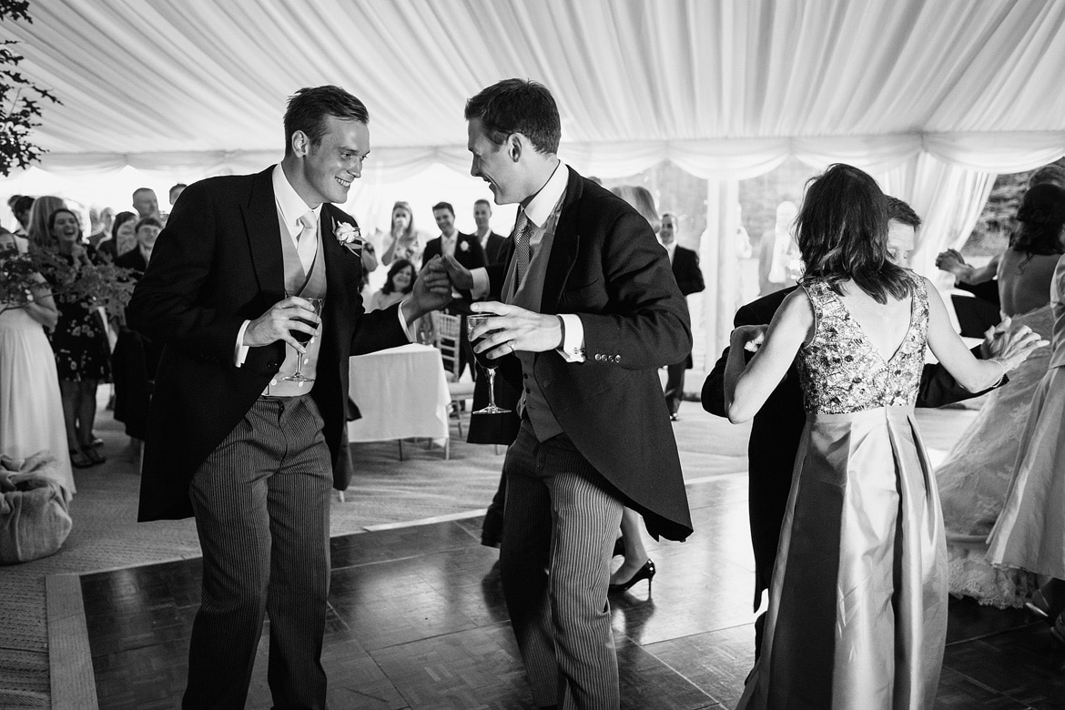 best men dance during the first dance