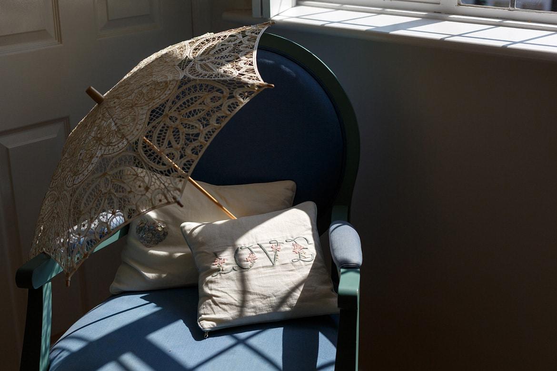 a love cushion in the sunlight