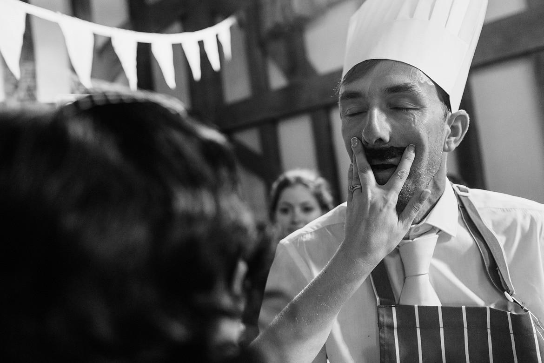 a guest gets his moustache