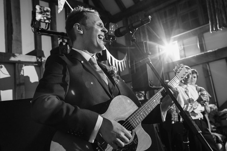 the groom sings