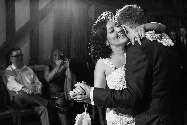 first dance at a gate street barn wedding