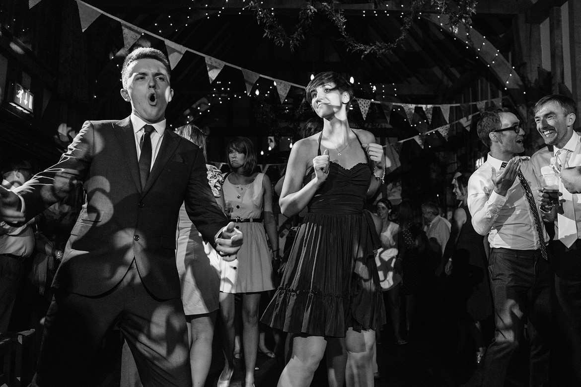 guests dance at gate street barn