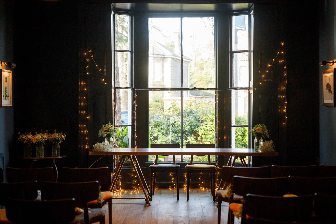 georgian townhouse wedding ceremony room