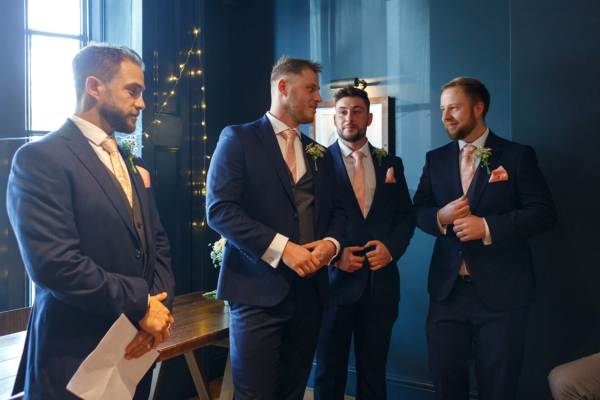the groom and his groomsmen before the ceremony