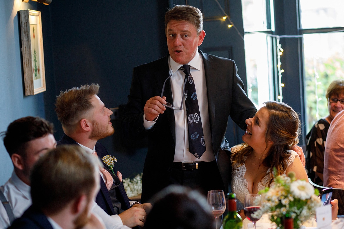 more speeches at a georgian townhouse wedding