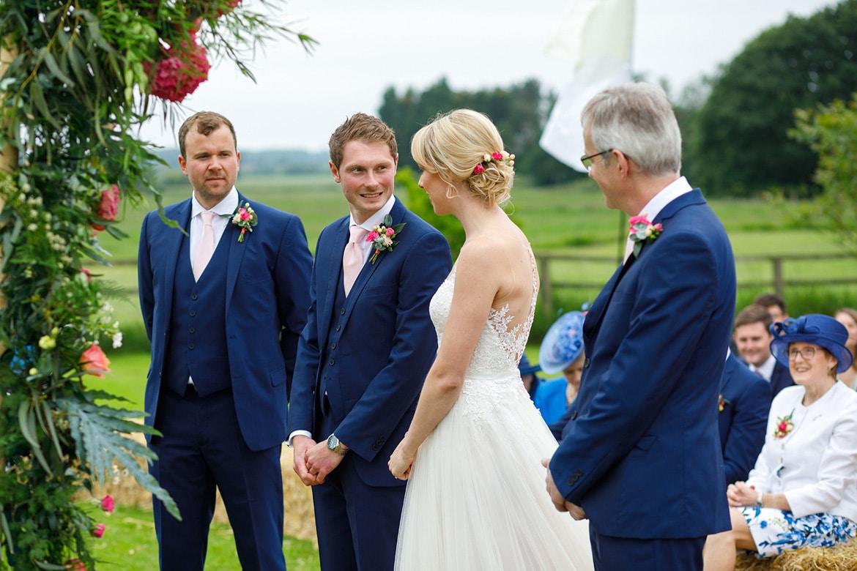 george greets his bride