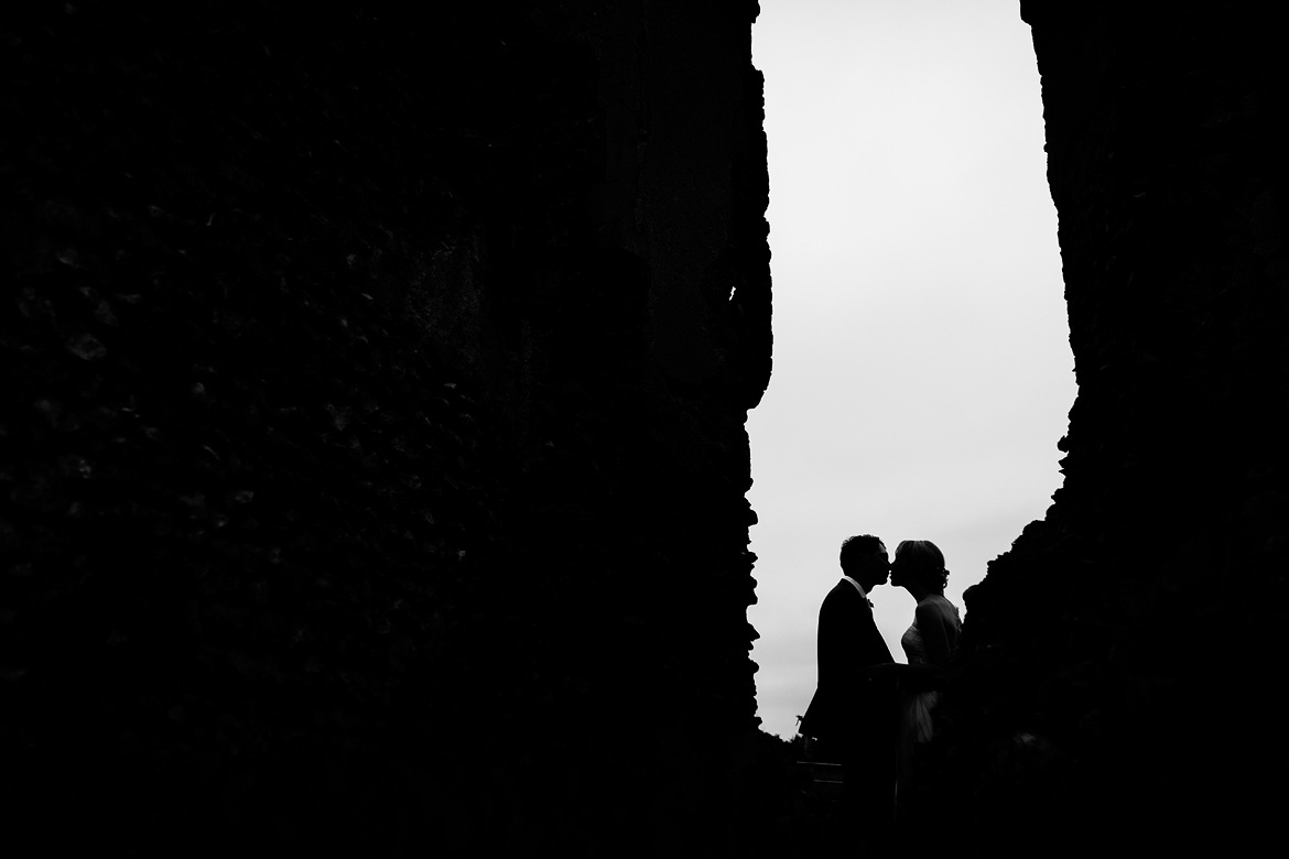a silhouette in the ruins at godwick hall
