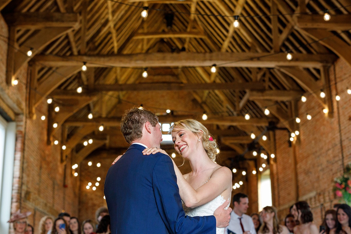first dance at a godwick hall wedding