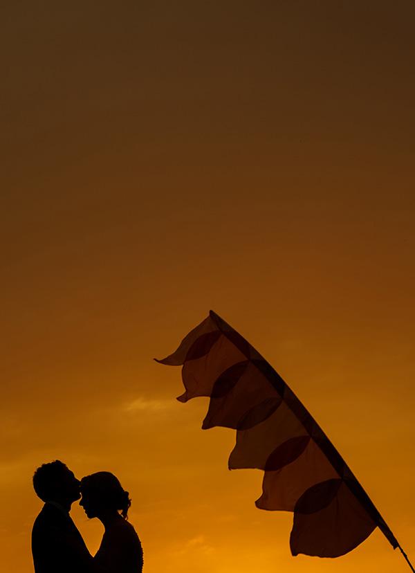 godwick barn wedding silhouette