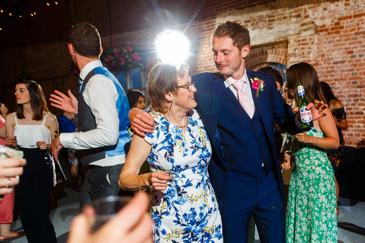 the groom dancing with his mother