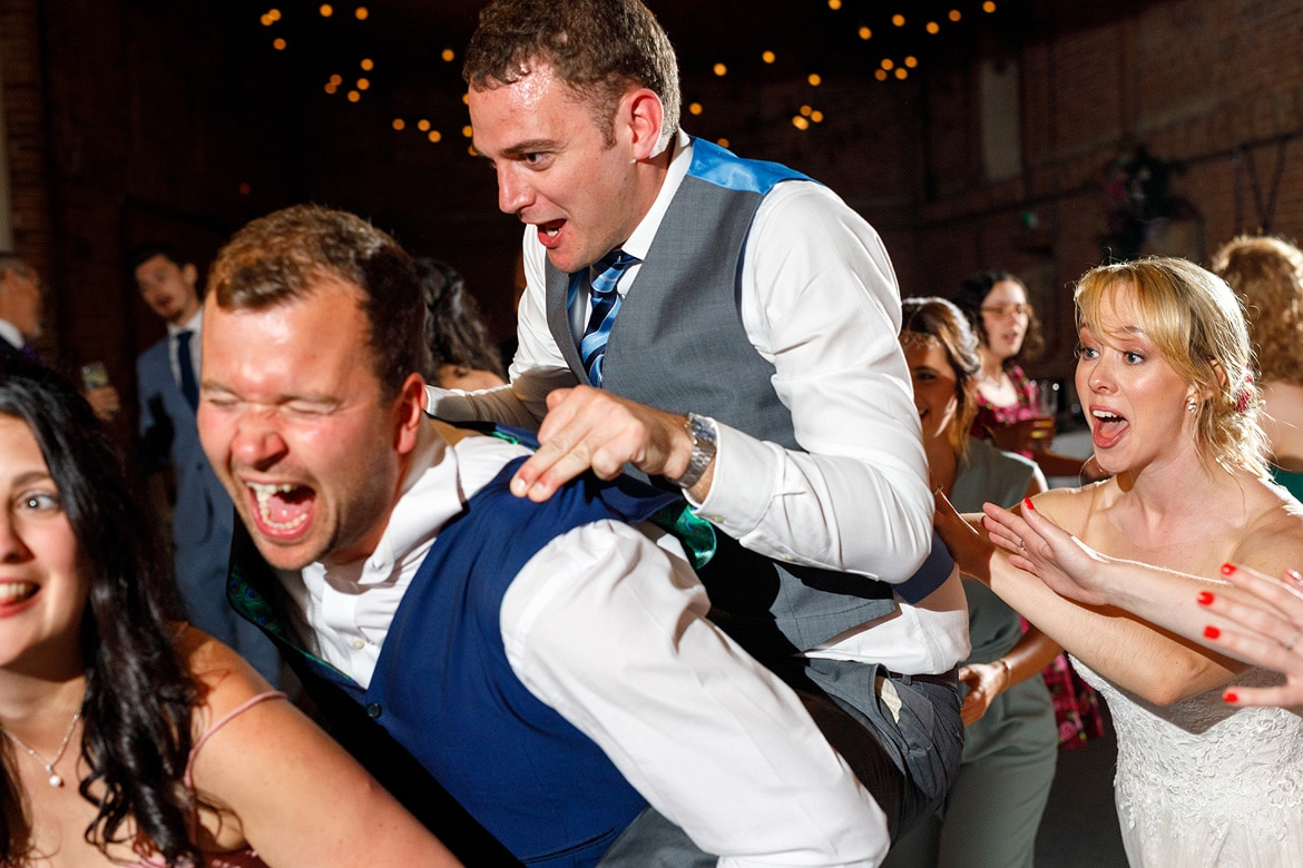 dancing at a godwick barn wedding