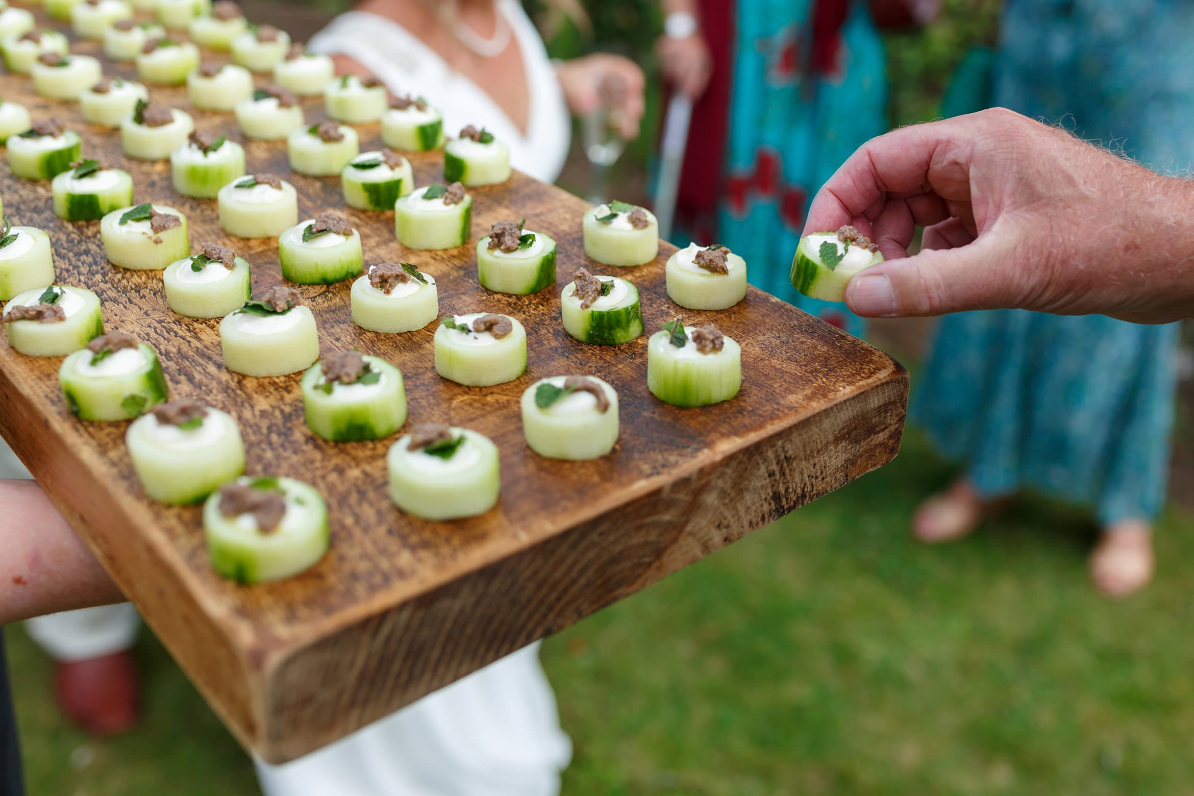 canapes at the wedding