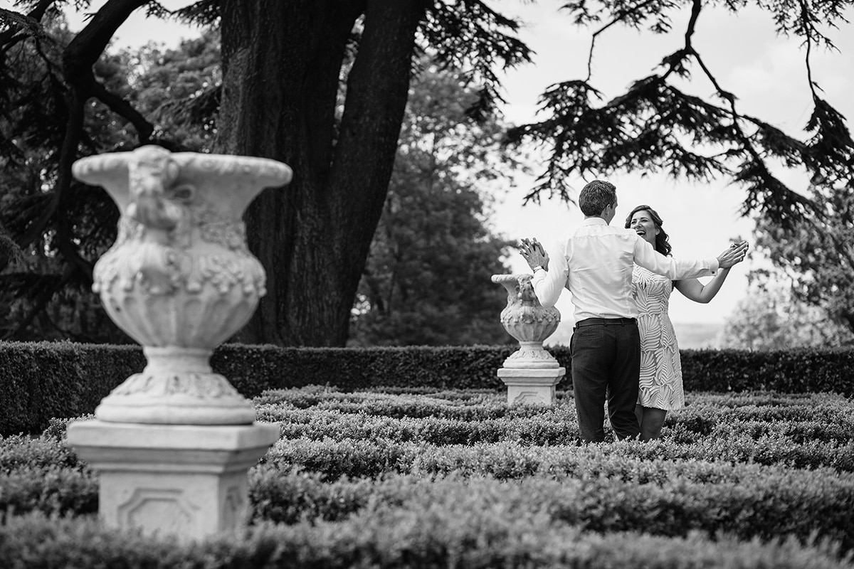 engagement photo in the grounds of hedsor house