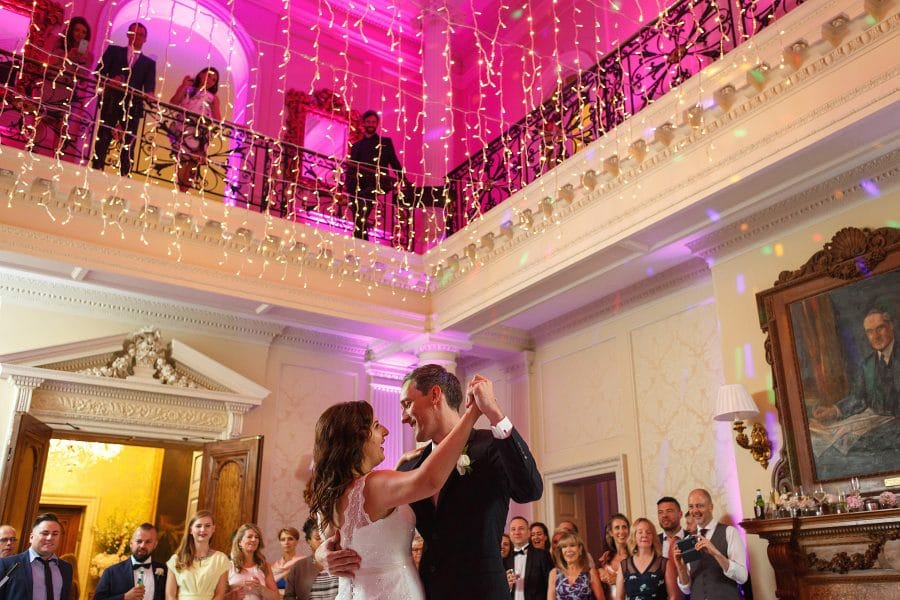 first dance at a hedsor house wedding