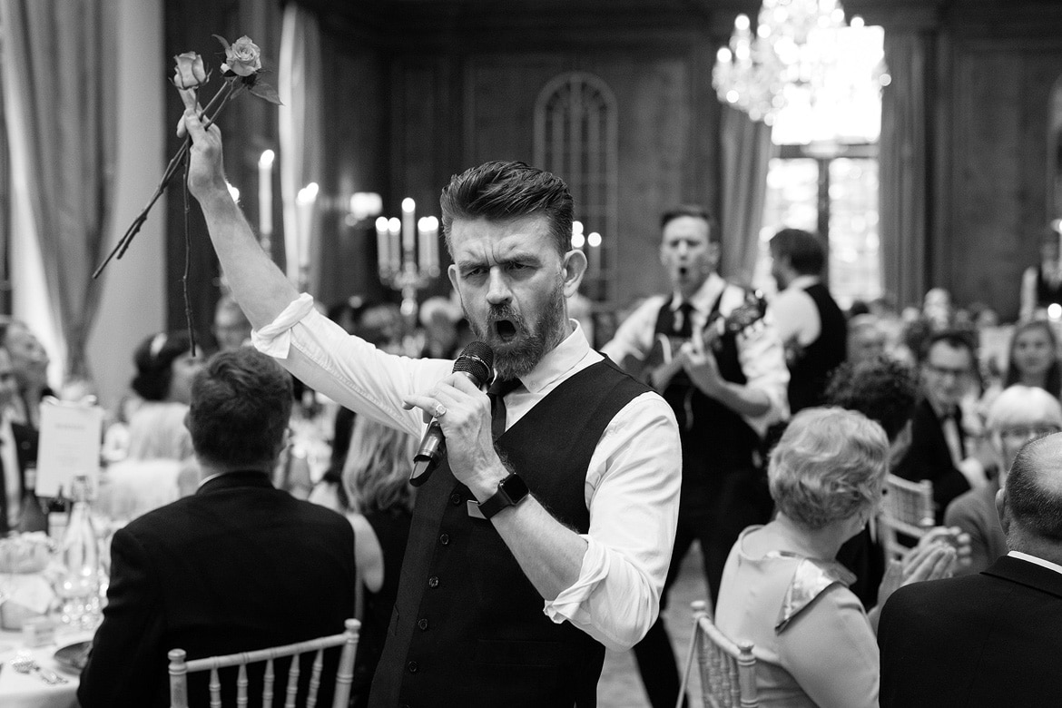 singing waiters at a hedsor house wedding breakfast