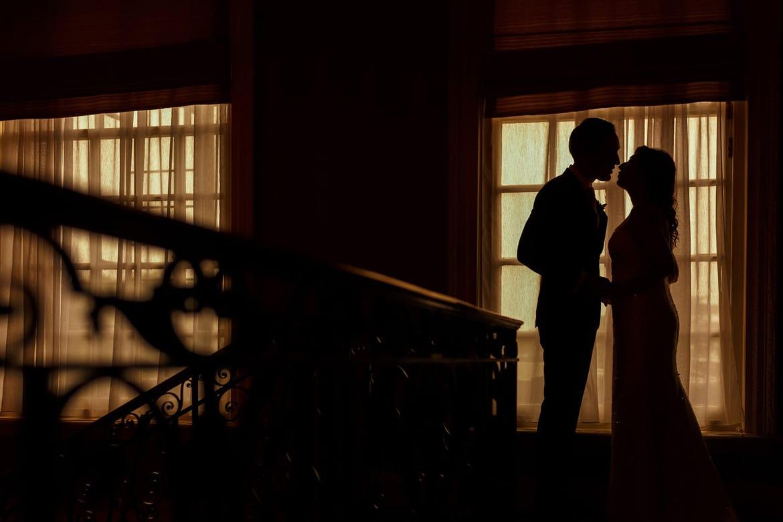 a silhouette portrait inside hedsor house