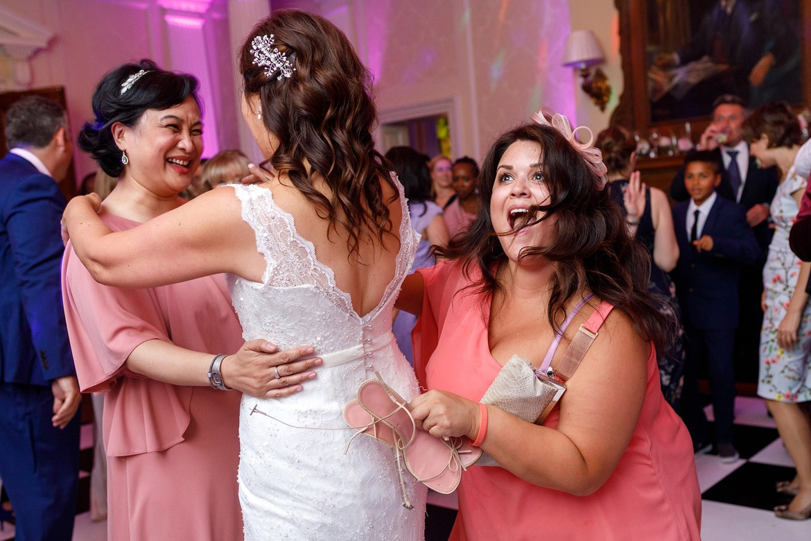 a guest ambushes the bride