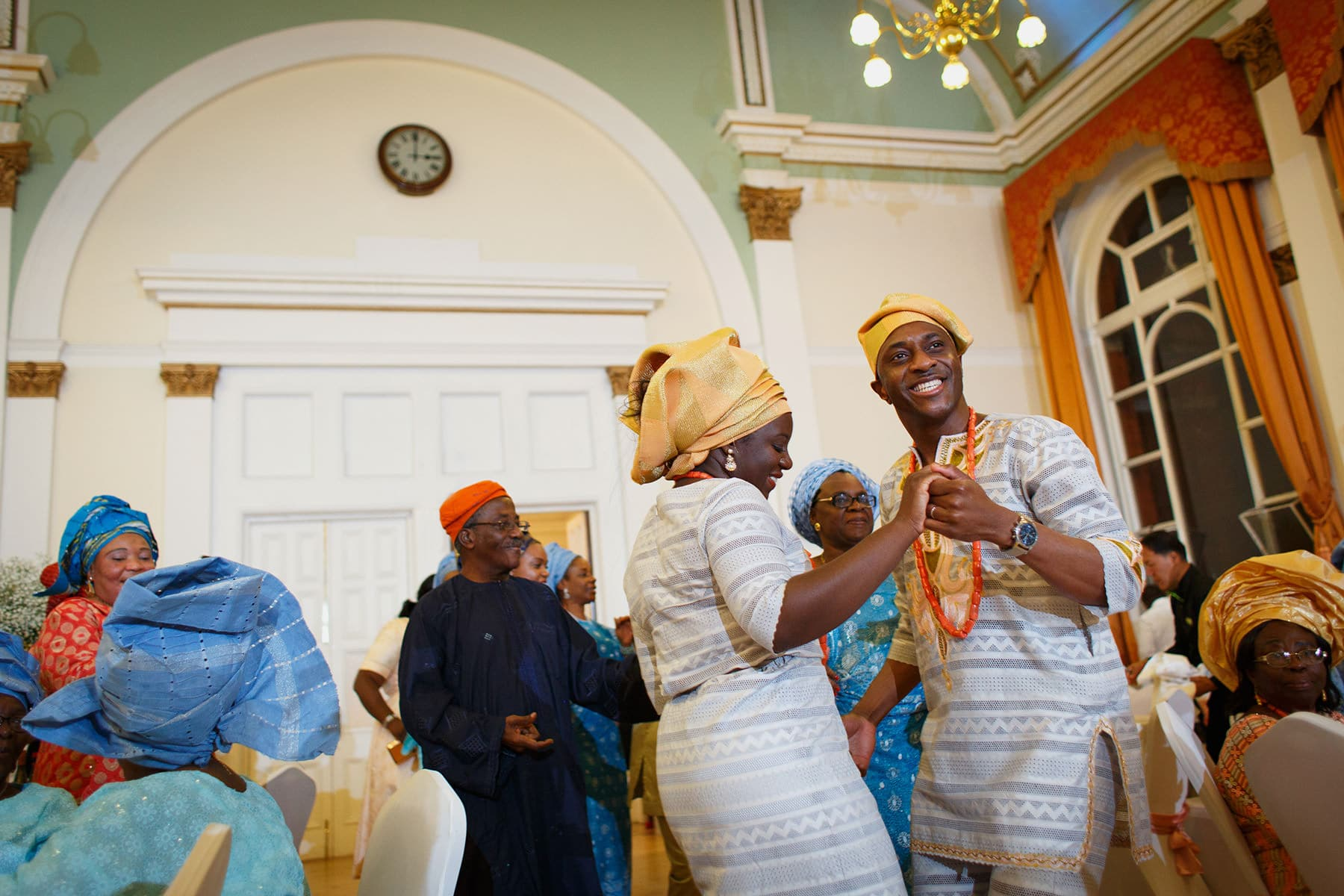 bola and oladele dance into their leyton great hall wedding