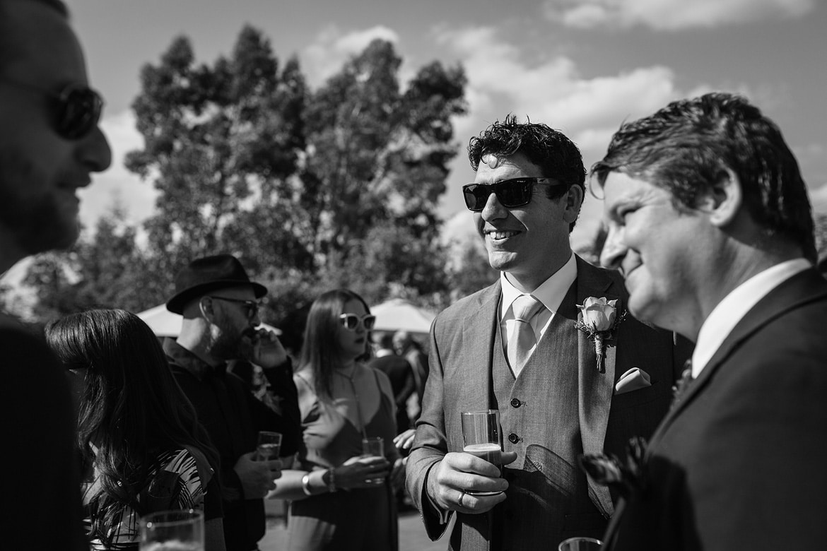the best man and wedding guests