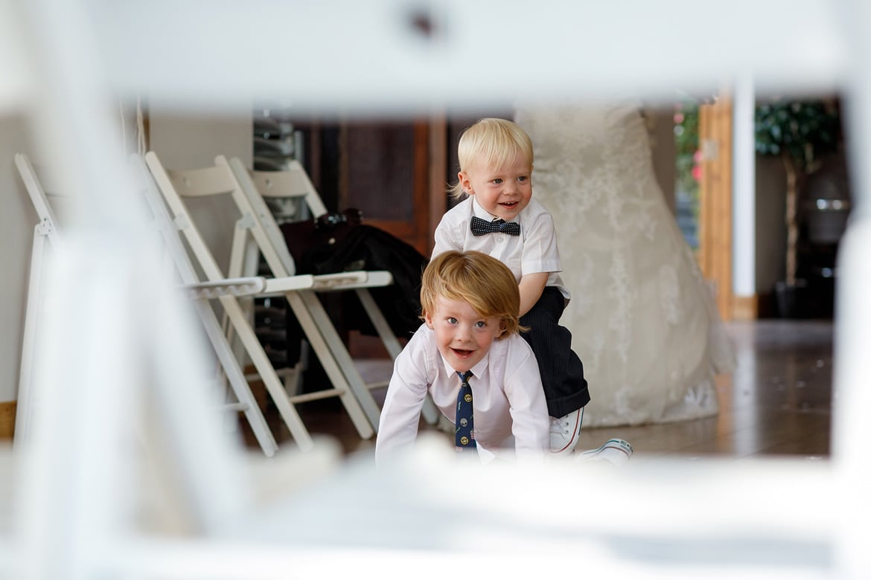 children playing inside