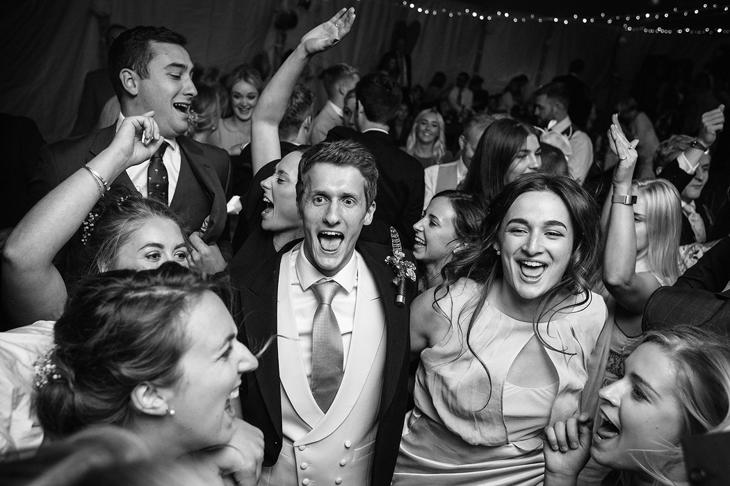guests dancing at a norfolk wedding