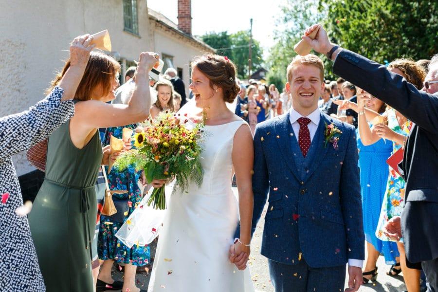 norfolk marquee wedding confetti