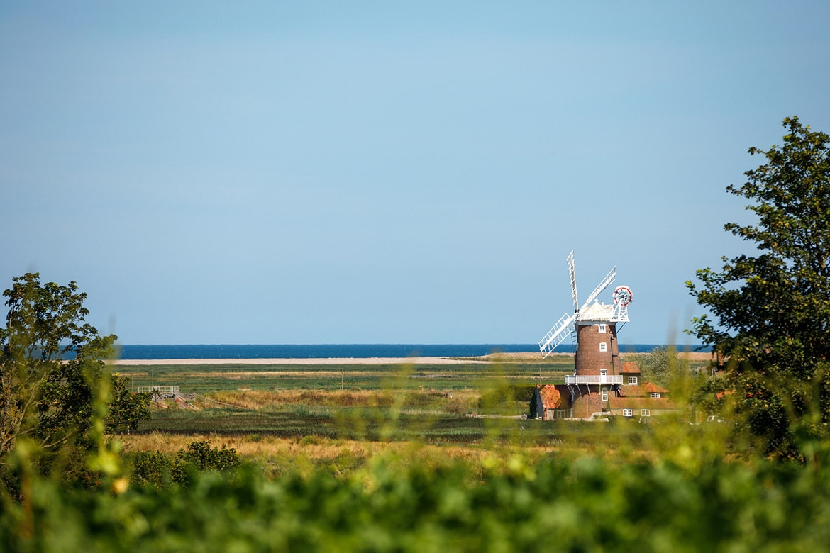 cley windmill on the north norfolk coast