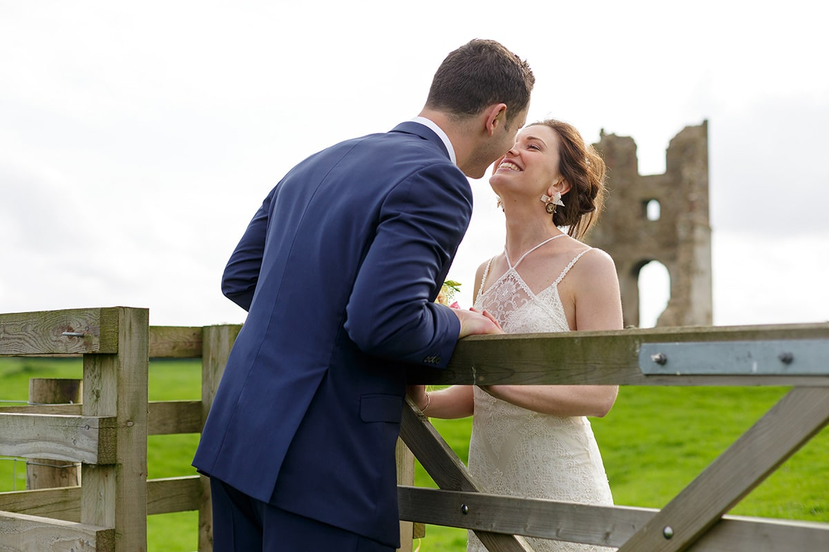 a wedding portrait at godwick barn