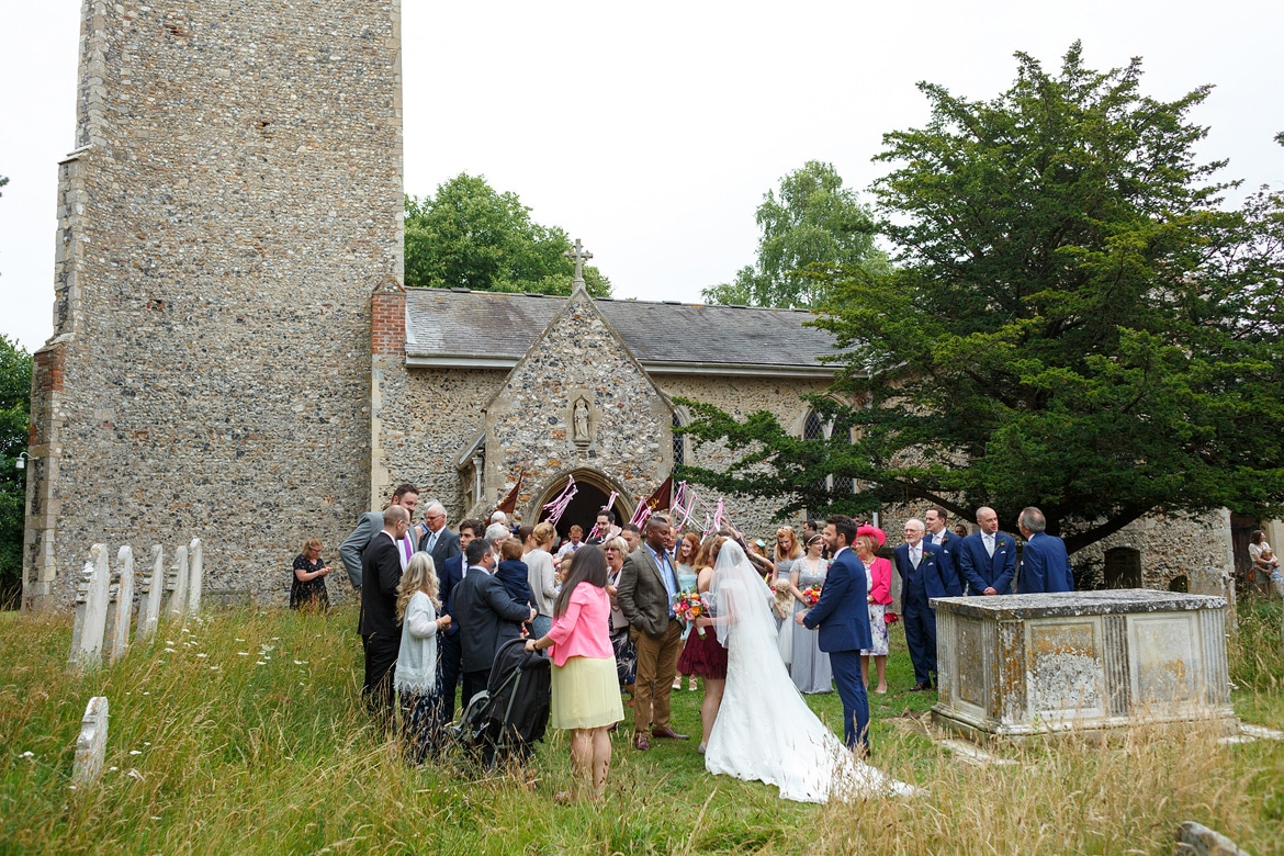 the wedding party outside bergh apton church