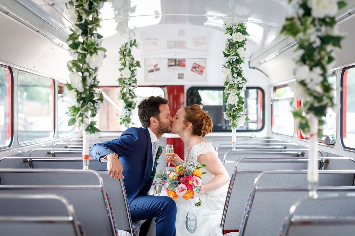 a quick kiss insode the routemaster bus