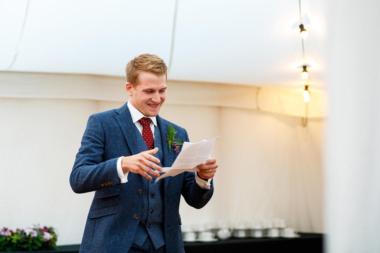 the groom speaks