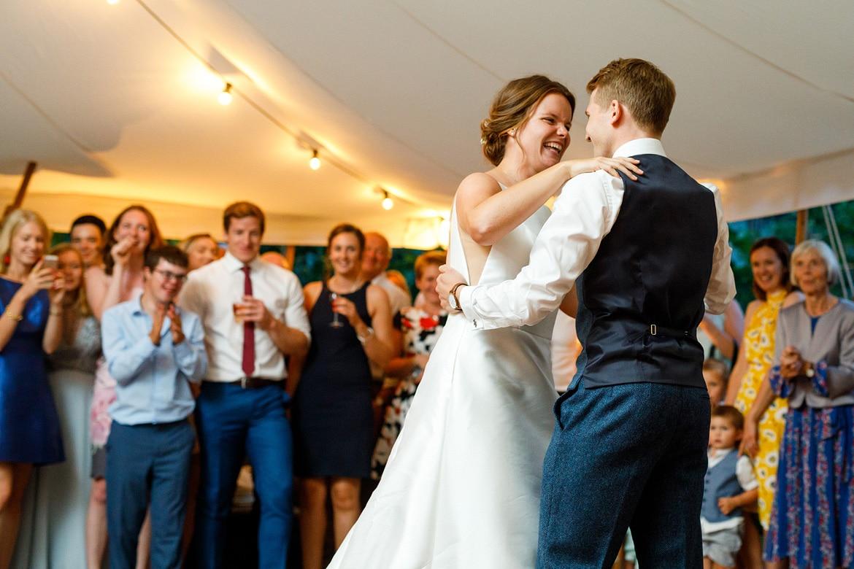 first dance at a norfolk summer wedding