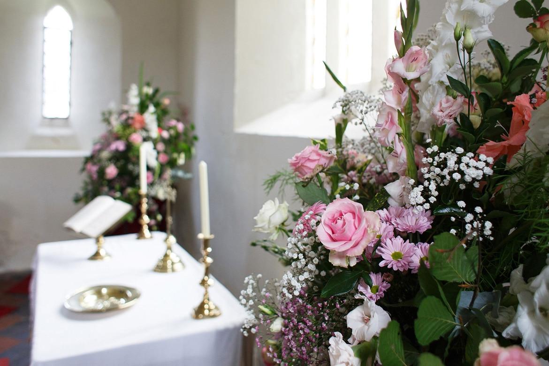 flowers inside st marys sydenham