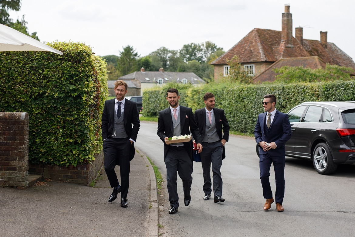 the grooms party arrives in sydenham