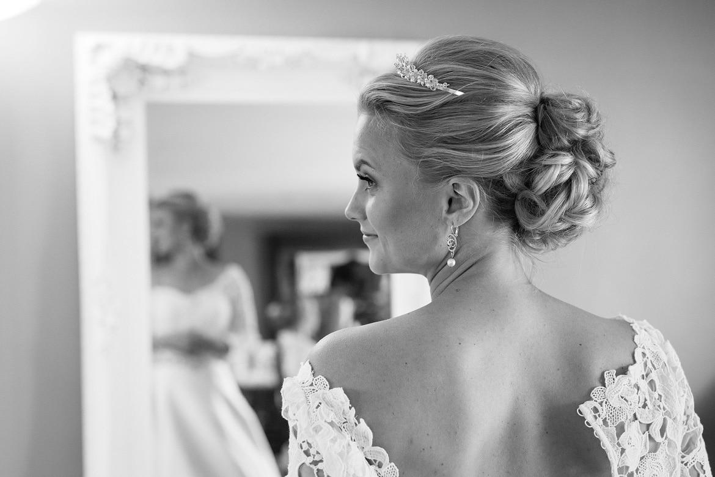 the brides hair