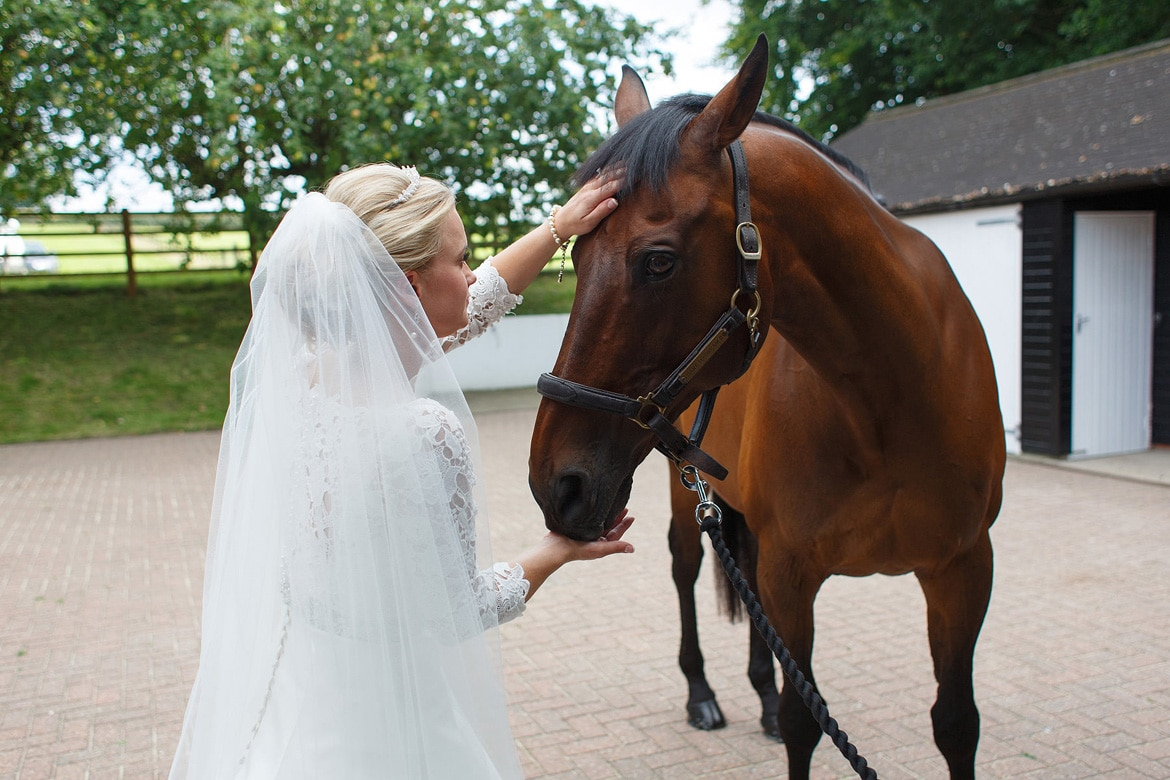 the bride and her horse