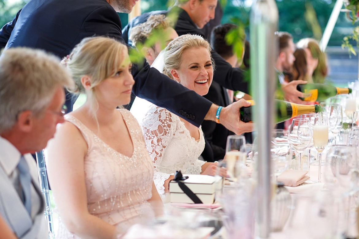 holly laughs at the top table