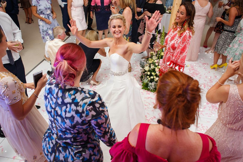 the bride on the dancefloor