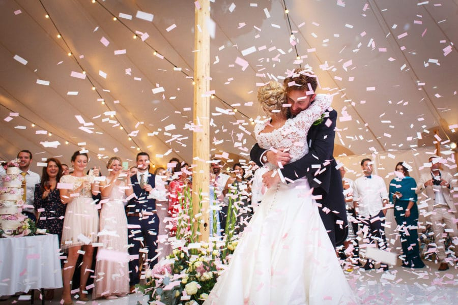 summer marquee wedding first dance in a papakata sperry tent