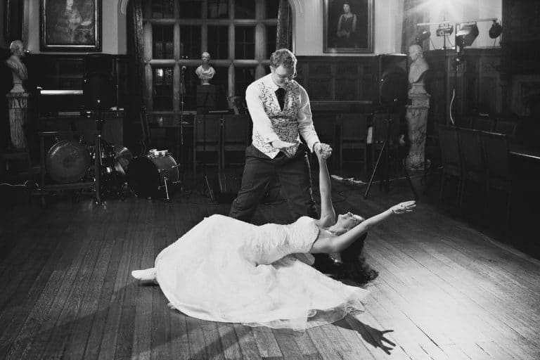 first dance at a pembroke college wedding
